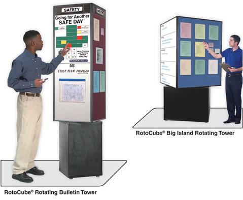 Product News Freestanding Rotocube Rotating Bulletin