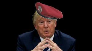 Trump in Red Beret
